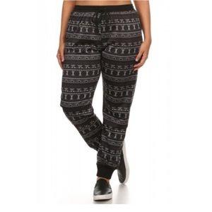 Pants - PLUS SIZE Fleece Lined Jogger Leggings